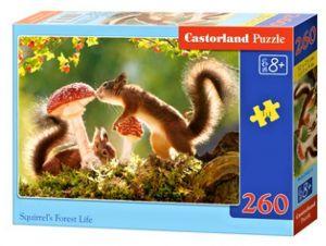 Puzzle Castorland 260 dílků - Veverky v lese  27521