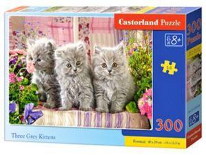 Puzzle Castorland 300 dílků - Tři šedá koťátka 030330