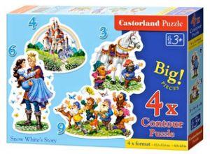Puzzle Castorland 4v1 = 3-9 dílků  Sněhurka   005109