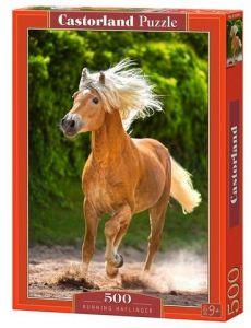 Puzzle Castorland 500 dílků - Běžící kůň   52981