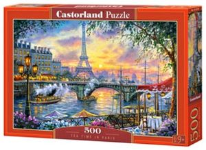 Puzzle Castorland 500 dílků - Čas na čaj v Paříži   53018