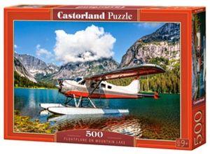 Puzzle Castorland 500 dílků - Hydroplán na horském jezeře  53025
