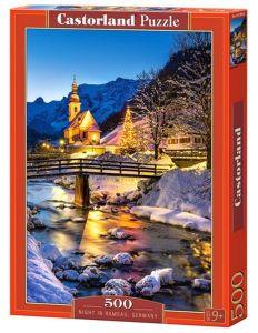 Puzzle Castorland 500 dílků - Noční Ramsau - Německo   53063