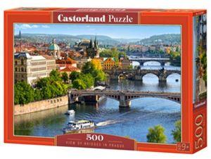 Puzzle Castorland 500 dílků - Pohled na Pražské mosty 53087