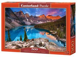 Puzzle Castorland 500 dílků - Svítání nad jezerem Moraine - Kanada    53001