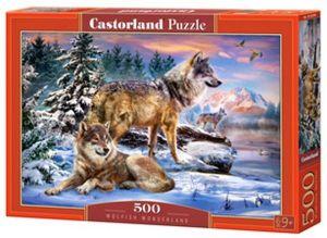Puzzle Castorland 500 dílků - Vlci   53049