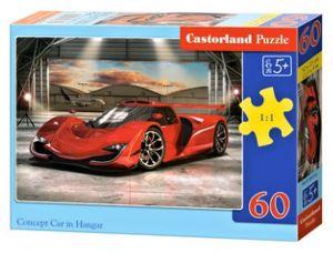 Puzzle Castorland 60 dílků - Červené auto - koncept v garáži  066162