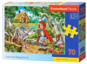 Puzzle Castorland 70 dílků premium  - Červená Karkulka  070015