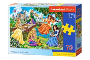 Puzzle Castorland 70 dílků premium  - Princezny v zahradě   070022