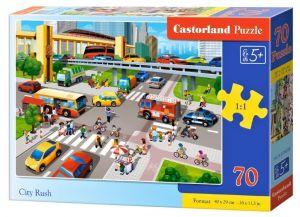 Puzzle Castorland 70 dílků premium  -  Rušná doprava ve městě  070039