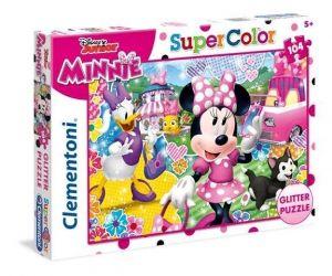 Puzzle Clementoni  - 104 dílků  Glitter  - Minie Happy   20146