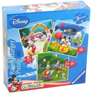 Puzzle Ravensburger 25, 36 a 49 d.   3 v 1  - Minnie Mouse  070886
