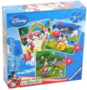 Puzzle Ravensburger 25, 36 a 49 d.   3 v 1  - Minnie Mouse  070886