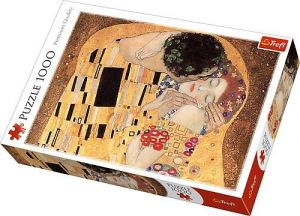 Puzzle Trefl  1000 dílků  - Gustav  Klimt - Polibek  10464