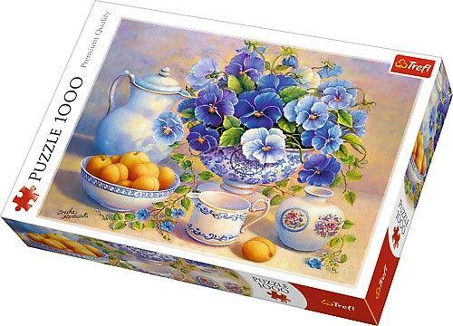 Puzzle Trefl 1000 dílků - Trisha Hardwick - Modré květiny 10466
