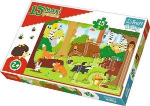 Puzzle Trefl 15 dílků MAXI - Lesní zvířata  14276