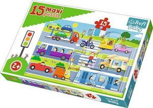 Puzzle Trefl 15 dílků MAXI - Městské dopravní prostředky  14279