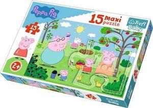 Puzzle Trefl 15 dílků MAXI - Prasátko Peppa  14282