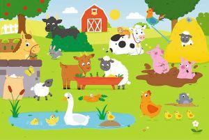 Puzzle Trefl 15 dílků MAXI - Zvířata na vsi 14275