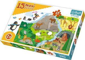 Puzzle Trefl 15 dílků MAXI - Zvířátka a jejich příbytky  14280