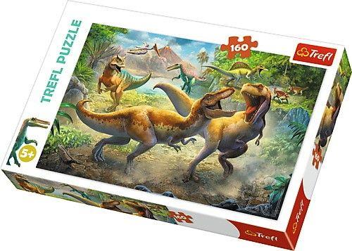 Puzzle Trefl 160 dílků - Bojující dinosauři 15360