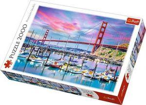 Puzzle Trefl 2000 dílků -  Golgen Gate - San Francisco  27097