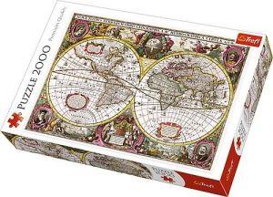 Puzzle Trefl 2000 dílků  - Mapa světa   27095