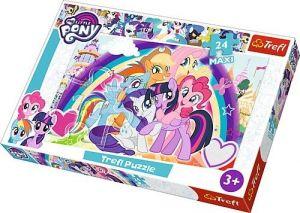 Puzzle Trefl 24 MAXI dílků  - My Little Pony - šťastní koníci   14269