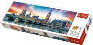 puzzle Trefl 500 dílků panorama - Big Ben a Westminsterský palác  - 29507