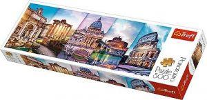 puzzle Trefl 500 dílků panorama - Cestování po Itálii - koláž  - 29505