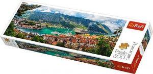 puzzle Trefl 500 dílků panorama - Kotor , Černá Hora  - 29506