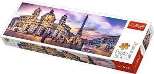 puzzle Trefl 500 dílků panorama - Piazza Navona,  Řím  - 29501