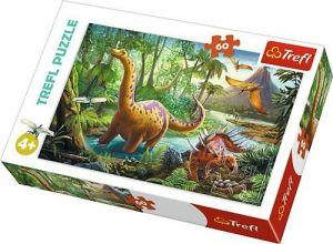 Puzzle  Trefl  60 dílků  -  Procházka dinosaurů 17319