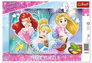 Puzzle Trefl v rámečku ( rámkové ) - Disney princezny   31279