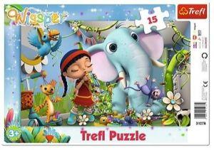 Puzzle Trefl v rámečku ( rámkové ) - Wissper   31278