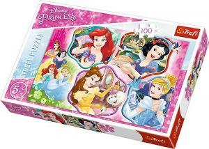 Trefl Puzzle 100 dílků - Disney princezny  -  16339