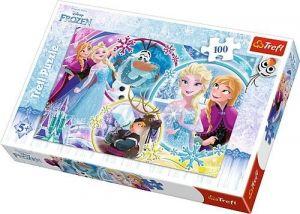 Trefl Puzzle 100 dílků - Frozen - Ledové království  -  16340