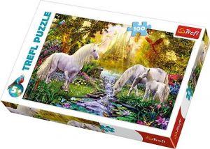 Trefl Puzzle 100 dílků - Zahrada s jednorožci  -   16349