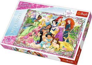 TREFL Puzzle  260 dílků - Disney -  Setkání princezen   13242