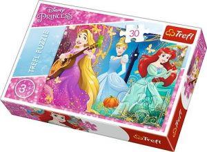 Trefl puzzle  30 dílků  - Disney princezny 18234