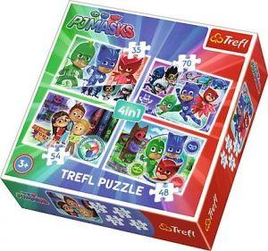 Trefl Puzzle 34299  Pyžamasky   4v1 35 48 54 70 dílků