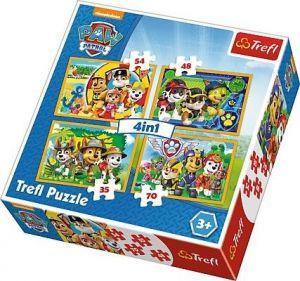 Trefl Puzzle 34307 Paw Patrol - Tlapková patrola   4v1 35 48 54 70 dílků