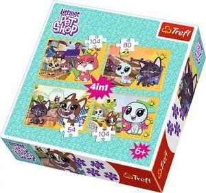Trefl Puzzle  4v1 35 48 54 70 dílků - Littlest  Pet Shop 34295