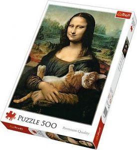 TREFL Puzzle 500 dílků - Mona Lisa s kocourem 37294