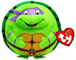 TY Beanie Ballz - plyšák / míč 12 cm  TMNT - Donatello  38257