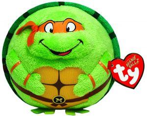TY Beanie Ballz - plyšák / míč 12 cm  TMNT - Michelangelo  38256