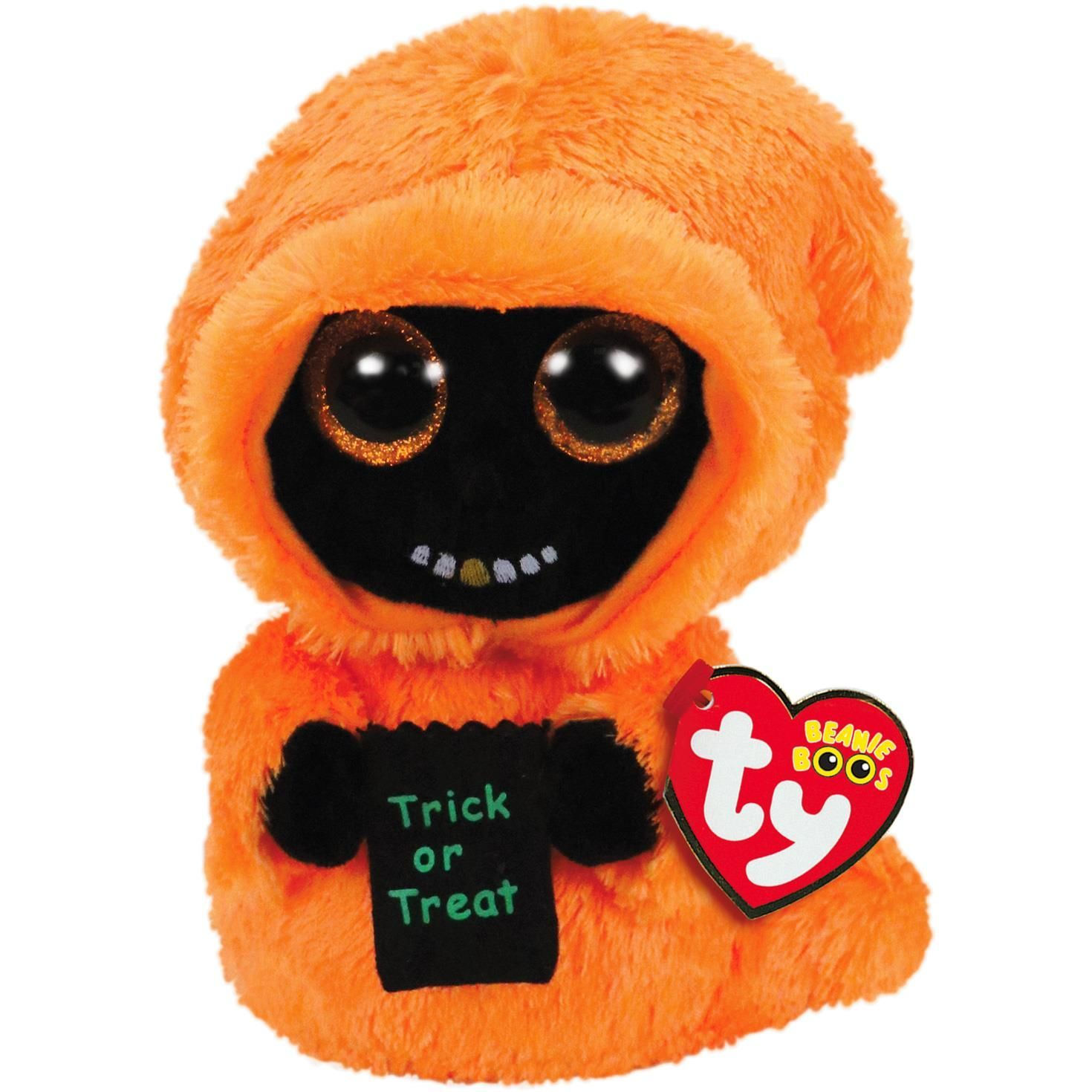 TY Beanie Boos - Grinner - oranžový duch 36208 - 15 cm plyšák TY Inc. ( Meteor )