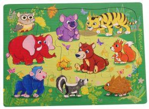 Brimarex - Dřevěné puzzle - 20 dílků  Safari  30 x 22,5  cm   1581709