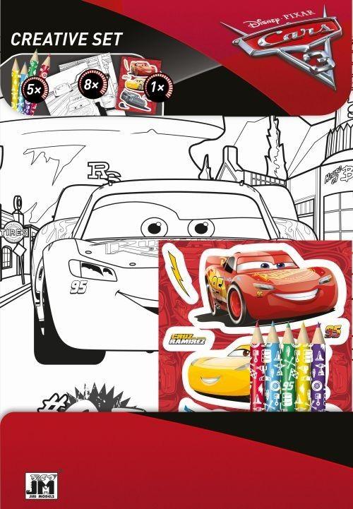 CARS - Auta 3 - omalovánkový set + pastelky Jiri Models