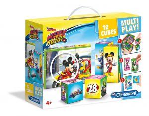 Clementoni - multi-play kostky - Mickey  Mouse - závodníci   41508